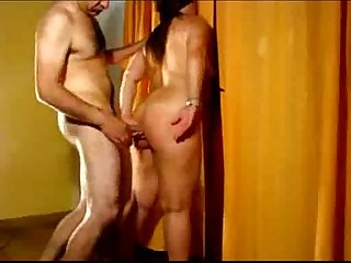 Indian couple standing sex at home
