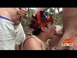 Latinos and indians bareback sex orgy