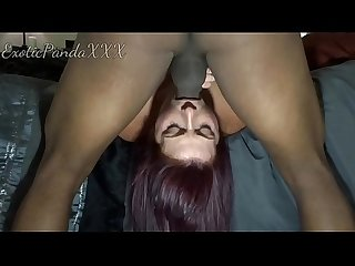 Black Cock Fucks White Whore's Mouth