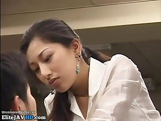Jav big tits secretary has to please boss friend