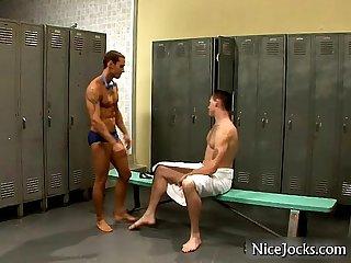 Sexy jock sucking massive cock by nicejocks