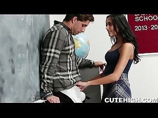 Troublemaking Babe gets laid at school