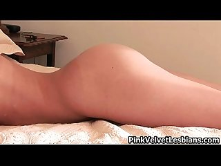 Horny naked Girl goes crazy putting