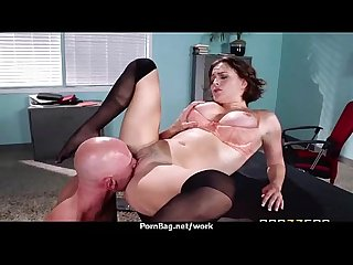 Big-boobed office executive fucks her new employee 4
