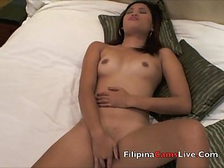 Asian girl masterbates fingers pussy in manila hotel asiangirlslive net