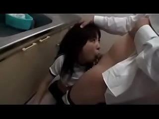 Schoolgirl In Training Dress Forced To Suck Cock Cum To Mouth