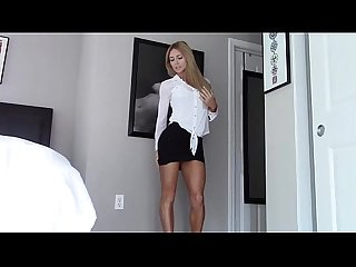Classy girl gets naked so you can jerk off