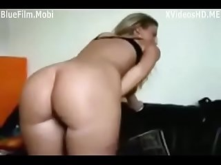 Amateur girl fucked from behind by friend