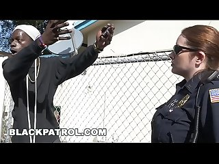 BLACK PATROL - Domestic Disturbance Call Ends W/ Thug Eating White Cop Ass