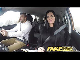 Fake driving school lucky young lad seduced by his busty milf examiner
