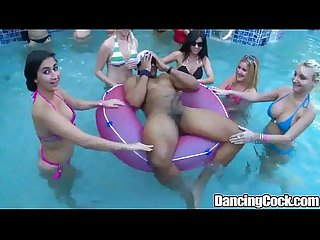 Dancingcock poolside orgy