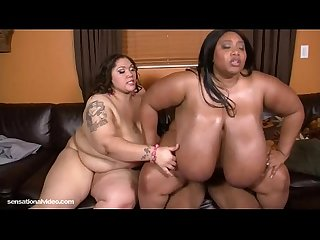 Sexy BBWS Anastasia and Cotton Candi Share A Dick