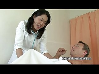 Asian MILF Fujiko pounds two dicks