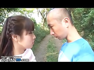 Jav 18yo schoolgirl sucks bf small dick in a park more at elitejavhd com