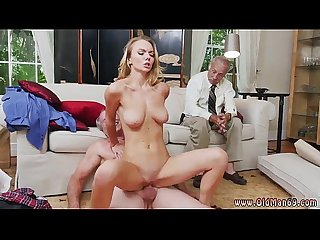 Old guy cum and old cleaning woman you need to watch the body on this