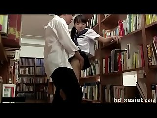 Cute japanese teen caught and fucked at the school Library hd xasiat com