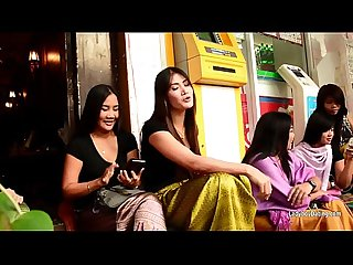 Bangkoks Nana Red Light District In HD-Talking With Ladyboys During The Daytime