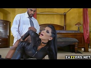 Romi got double penetrated in gangbang