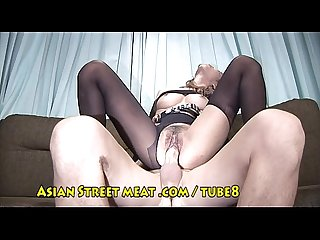 Asian girl stockings
