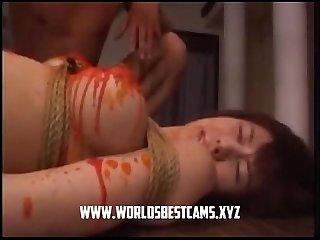 Hot Japanese Teen Waxed On Her Live Show