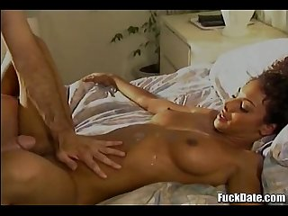amazing hardcore interracial fuck with amazing babe taking big cock