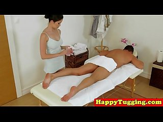 Real japanese masseuse pampering dong