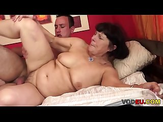 VODEU - Hairy grandma and her younger lover