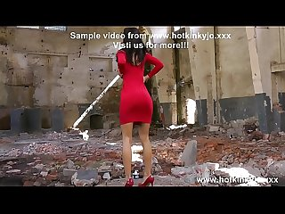 Red hot lady self anal fisting and prolapse in abandoned factory