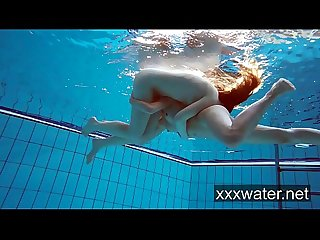 Milana and katrin strip eachother underwater
