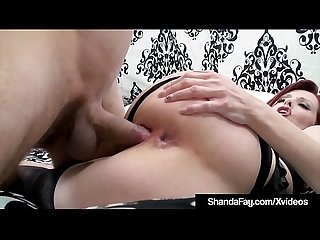 Horny housewife shanda fay stuffs muff gets anal fucked