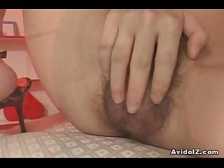 hot japanese babe fucks herself with big dildo uncensored