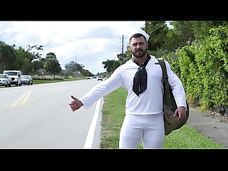 GAYWIRE - Bruce Beckham Fucks Derek Bolt, The Hawt Hitchhiking Sailor