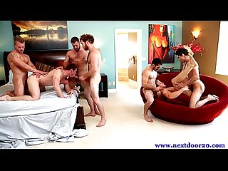 Hot hunks in group orgy fucking tight Ass hole