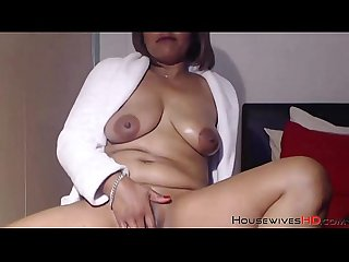 Delicious mature portia with oiled body and high heels