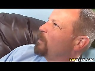 Teen Aubrey Dey Gets Fucked By A BBC In Front Of Dad