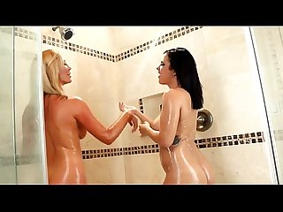 Keisha tasha wet anal lesbian play in the shower redfoxporn com