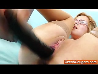 Mother licking boob and masturbating