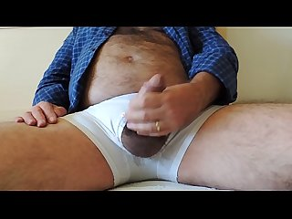 Hairy daddy jerking off