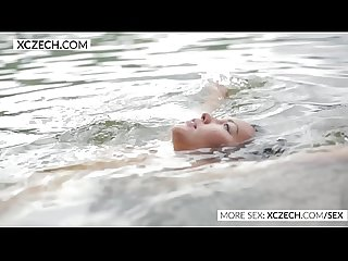 Beautiful asian water nymph making erotic swimming - XCZECH.COM