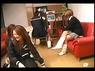 Dominant Japanese schoolgirls bully classmates