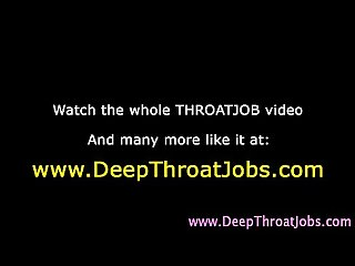 Hungry deep throat hoe takes hard dick