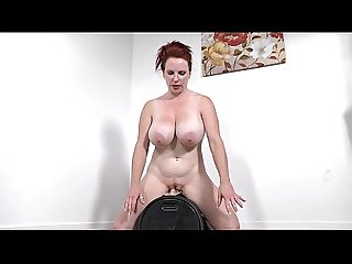 Smoking Hot redhead from themilfaholic dot com rides sybian