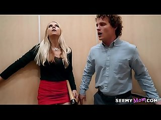 My boss angry wife sarah vandella fucks me in the elevator