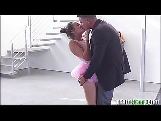 Miniature and slutty cassidy klein gets hammered by ballet instructor