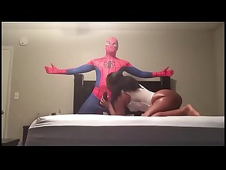 I fucked my mom friend in a Spiderman outfit and nutted all in her