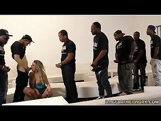 Kenzie Taylor Gets Face Fucked And Gangbanged