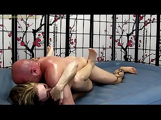 Cute Girl gives Erotic Oil Body Massage with Fucking and Blowjob