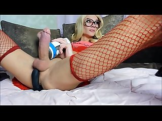 Beauty shemale big cock cumshot tscamdolls com