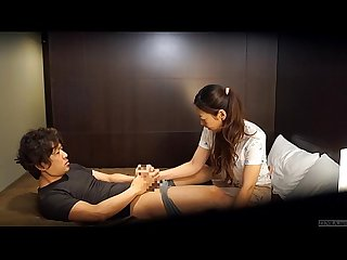 Japanese hotel massage gone wrong Subtitled in HD