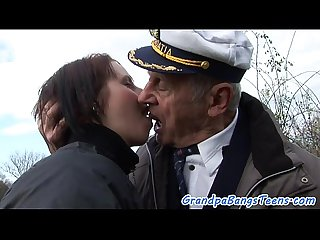 Busty eurobabe bangs grandpa